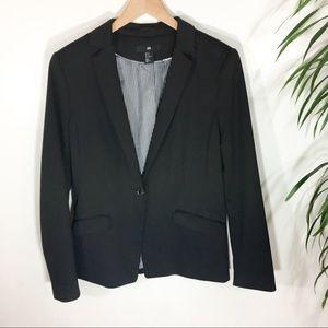 H & M Black Knit Jacket Size 10